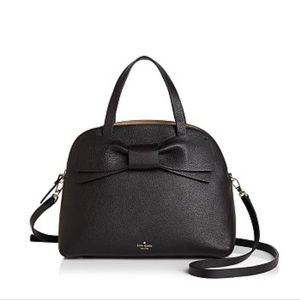 Kate Spade New York Lottie bow leather satchel